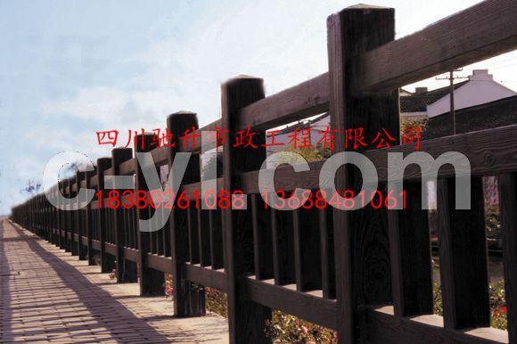 四川藤蔓仿木护栏 水泥栏杆大量供应